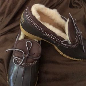 Llbean duck mocks. Lined used once